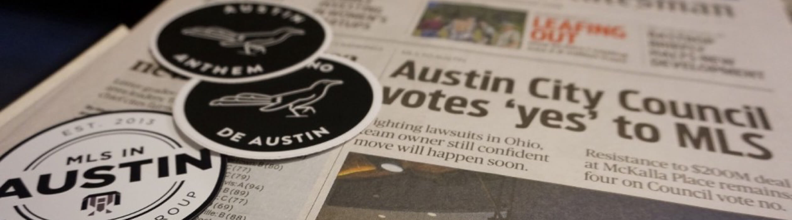 The paper from the City Council approving Austin FC.